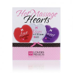 Lovers Premium Hot Massage Hearts (3pcs)