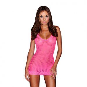 Lapdance Lace Mini Dress (Pink)